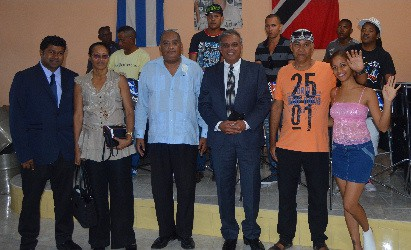 Guyanese American Delegation in Cuba listening to the Cuba Steel Orchestra