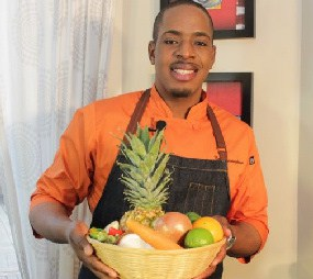 Chef Noel Cunningham cooking up the Vybez at Palm Beach Jerk Festival